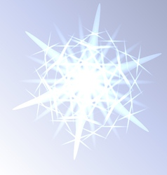 Light snowflake closeup vector