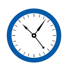 A clock on the wall vector image vector image