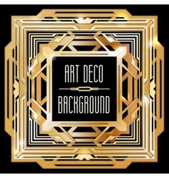Abstract gold art deco style background vector