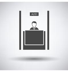 Bank clerk icon vector image