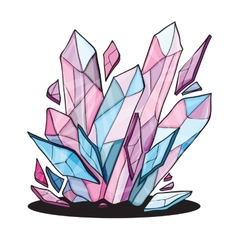beautiful crystal stones for design vector image