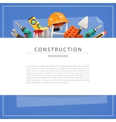 Blueprint Construction Background with Copy Space vector image vector image