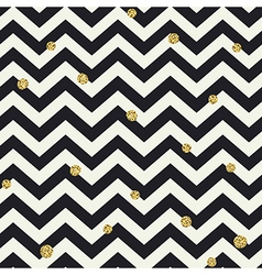 Chevron seamless pattern Black zigzag lines and vector image vector image
