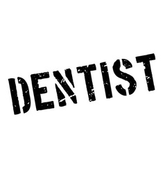 Dentist rubber stamp vector