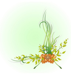 floral garnish vector image vector image