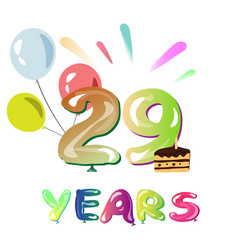 happy anniversary 29 years vector image vector image