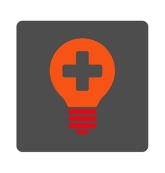 Healh care bulb flat button vector