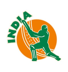 India cricket icon vector
