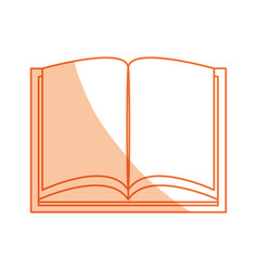 isolated study book vector image vector image