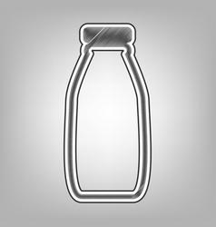 Milk bottle sign pencil sketch imitation vector