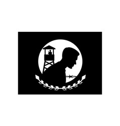 Pow mia flag vector