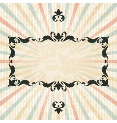 Retro background with vintage floral ornate frame vector image vector image