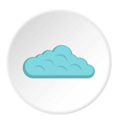 Sky cloud icon circle vector