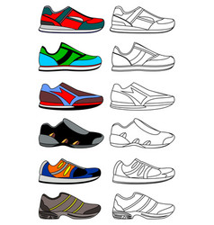sneakers minimal icon isolated on white vector image vector image