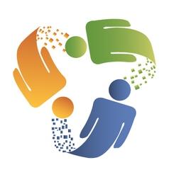 Teamwork logo vector