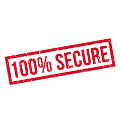 100 percent secure rubber stamp vector