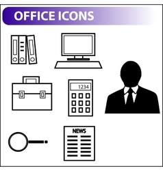 Retro icons for business vector