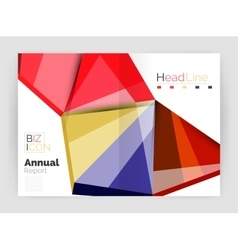 Business abstract geometric financial report vector