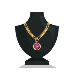 Icon mannequins jewelry necklace isolated vector