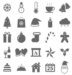 Winter icons on white background vector