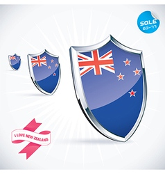 I love new zealand flag vector