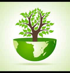 Tree inside the earth vector