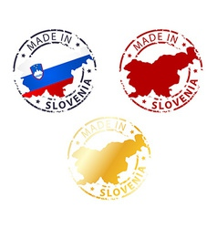Made in slovenia stamp vector