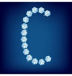 vector diamond alphabet letter c vector image