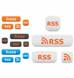 RSS buttons and symbols vector image