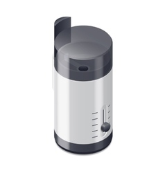 Coffee grinder isometric icon vector