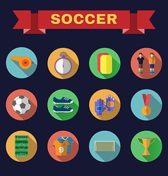 Football game flat design icons vector