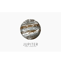 Jupiter logo planet logo cosmic logo space logo vector