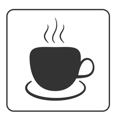 Coffee cup icon black vector
