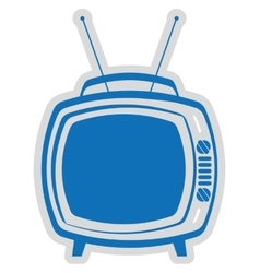 Old tv isolated icon design vector