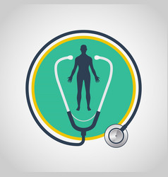 A physical exam logo icon design vector