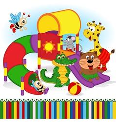 animals at playground vector image
