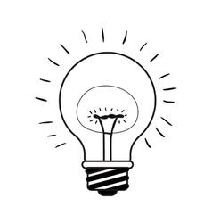 Bright bulb light vector