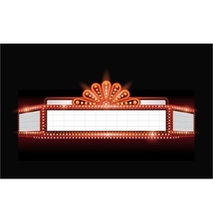 Brightly theater glowing retro cinema neon vector