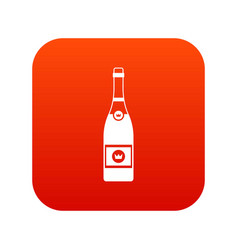 champagne icon digital red vector image