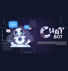 Chatbot technology robotic chatter using digital vector
