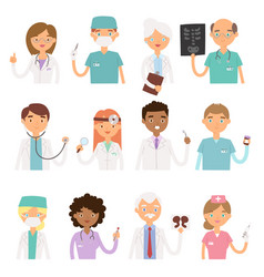 Different doctors profession charactsers vector