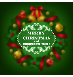 estive Christmas blurred background vector image vector image