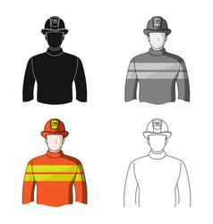 firefighterprofessions single icon in cartoon vector image vector image