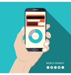 Flat design mobile payment concept vector image