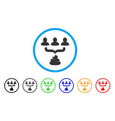 Human shit aggregator funnel icon vector