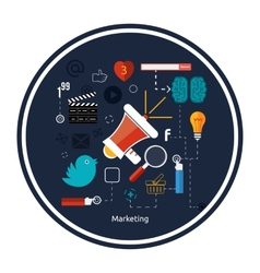 Icons for marketing vector