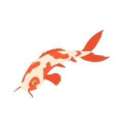 Koi carp icon cartoon style vector