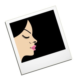 Lady in a Polaroid- logo for fashion photography vector image vector image