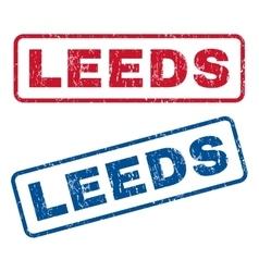 Leeds rubber stamps vector