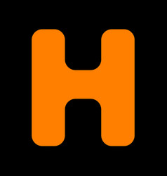 Letter h sign design template element orange icon vector